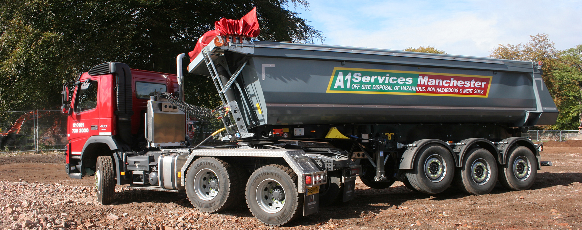 New atriculated tipper truck