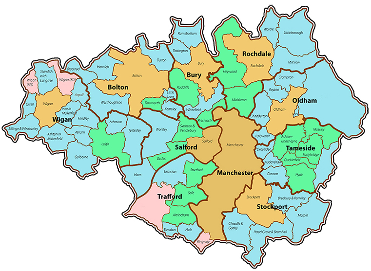 Areas of Manchester that provide a skip hire service to.